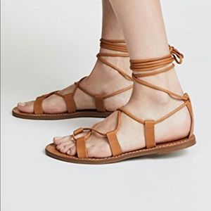 NWOT Madewell Lace Up Boardwalk Flat Sandals